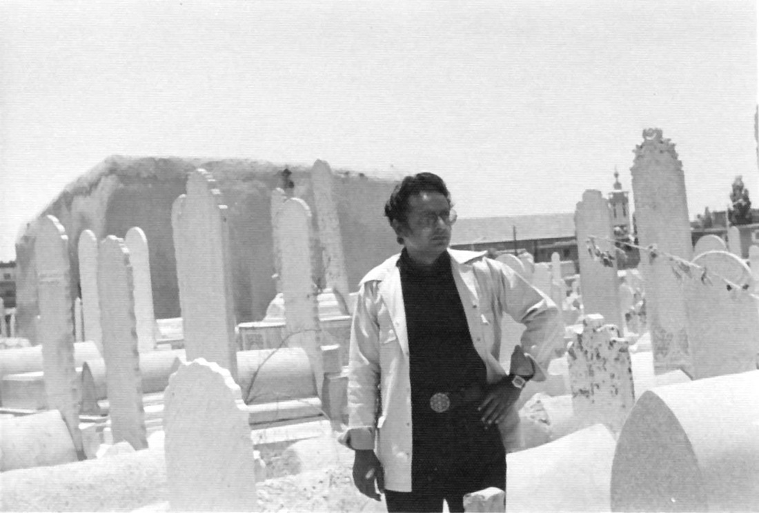 Baad-ul-Sagheer Damascus.In the back ground is the grave of Ameer Muavia. (circa 1975)