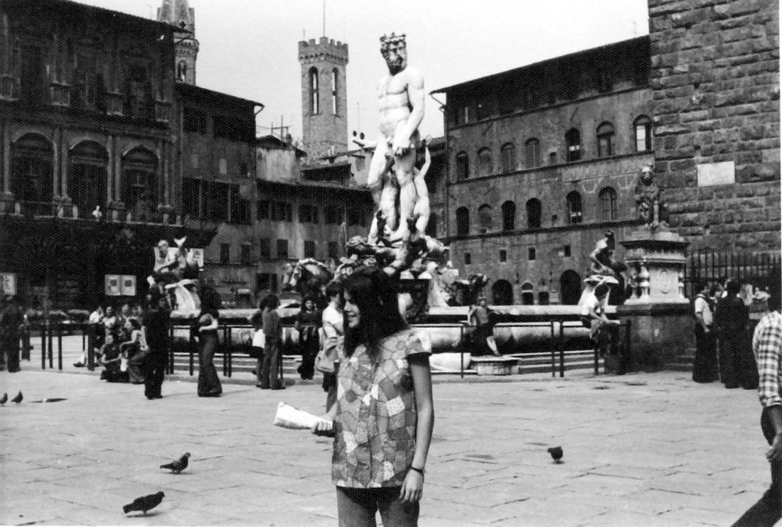 Wendy in Rome. (circa 1975)